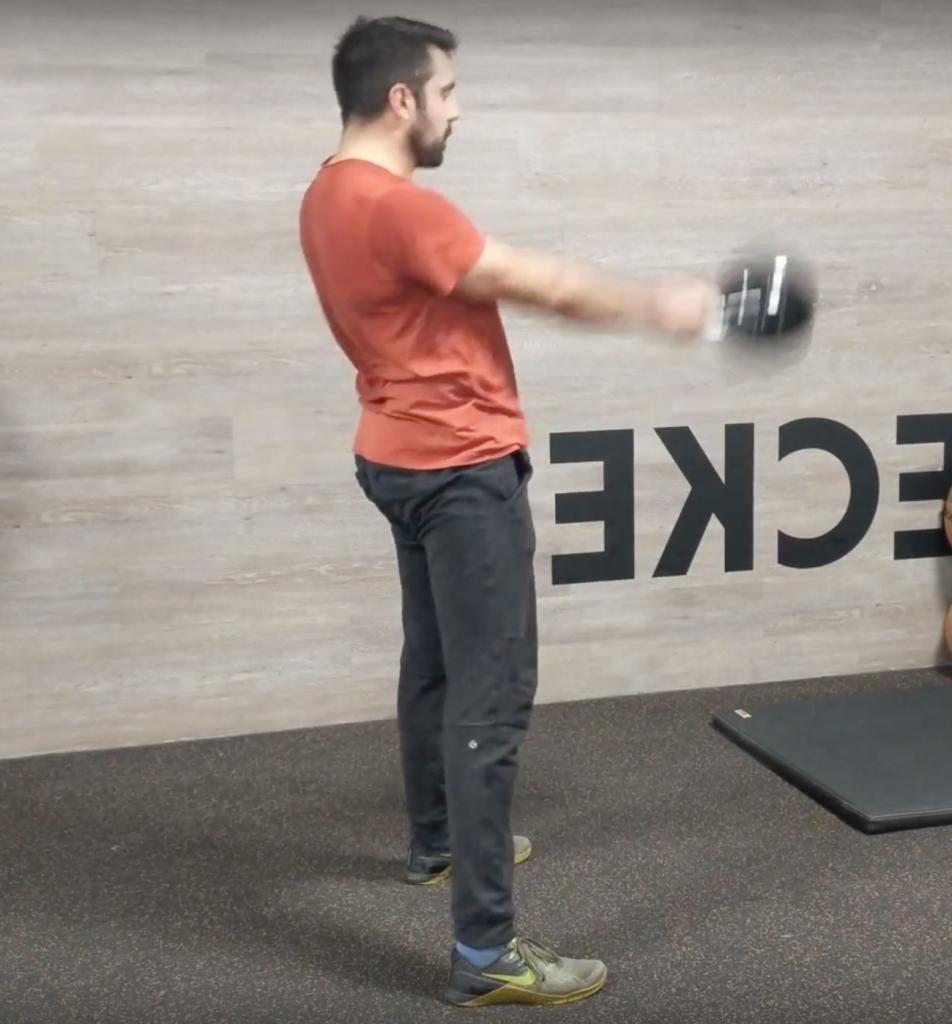 Kettlebell Swing Hip Explosion Position